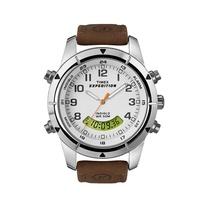 Timex Expedition นาฬิกาผู้ชาย สีน้ำตาล สายหนัง รุ่นT49828