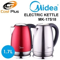 Midea 1A-K17S18D Electric Kettle 1.7L / Strix Heating Element / Safety Mark / 1 Year Warranty