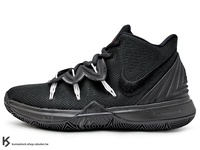 2019 Kyrie Irving 最新代言鞋款 NIKE KYRIE 5 GS BLACK WHITE 大童鞋 女鞋 黑 黑白 歐文 籃球鞋 (AQ2456-016) !