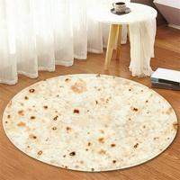60 ซม. Tortilla พรม Burrito แป้งข้าวโพด Tortilla โยนลื่นเสื่อปูห้องน้ำนุ่ม
