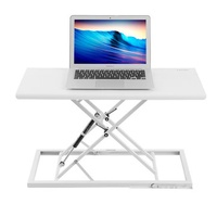 TED'S 053C Foldable Laptop Desk Computer Table Adjustable Height Lift Sit-Stand Dual Use Laptop Desk Bed Table