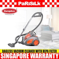 EuropAce EVC 2006P Multi-Cyclone Bagless Vacuum Cleaner with HEPA Filter