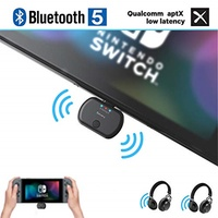 Golvery Wireless Audio Adapter for Nintendo Switch & PC, Type C/USB Bluetooth 5.0 Transmitter, Pl...