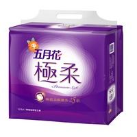 五月花極柔頂級抽取式衛生紙110抽 x12包/袋