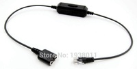 PC Headset to RJ9/RJ10/RJ22 Phone Switch Adapter with 8 Circuit Lines Switch For Yealink,Grandstream,AVAYA 1600 9600 series ,etc