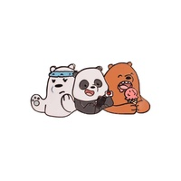 We Bare Bears Adult Hard Enamel Pin  WBB  We Bare Bears  Cute Pin  Bears  Sleeping Bears  Hard Enamel Pin  Pins  Adorable