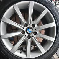 高雄人人輪胎 BMW 640i 原廠中古鋁圈 18吋X8J ET30 + 245/45/18失壓續跑胎 一組四顆