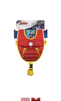 🚚 SwimWays Scultped Iron Man Swim Vest Float Wings Medium LargeUPF 50+ sun protection. Ages 4-6 years.