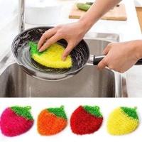 【Bunny ˙ω˙ 兔寶】韓國熱銷加厚吸水草莓洗碗巾/洗碗布/菜瓜布