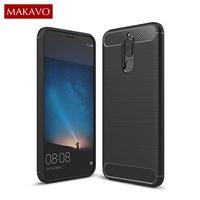 MAKAVO For Huawei Nova 2i Case Silicone Soft Fundas Carbon Fiber Back Cover For Huawei Mate 10 Lite