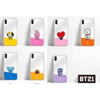 【OFFICIAL GOODS】 BT21 mirror jelly phone case - iphone case