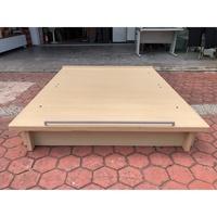 香榭二手家具*白橡木色 標準雙人5尺收納掀床-床架-雙人床-床組-床箱-床底-二手床-收納床-中古床-2手貨-掀蓋床架