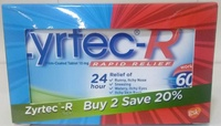 Zyrtec-R 10mg 10s x 2 (twin pack)