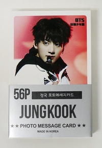 JUNGKOOK BTS BANGTAN BOYS - MINI POSTCARD PHOTOCARD SET 56pcs