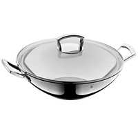 [Direct from Germany] WMF 753576380 wok stainless steel with glass lid, 36 cm