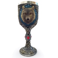 LingTud Stainless Steel 3D Wolf Coffee Cup Wine Goblet Water Cup Father's Day Gifts