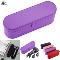 ❅FF Portable Hair Dryer Case PU Leather Flip Hard Box Anti-scratch Cover Pouch for Dyson Supersonic