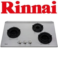 RINNAI RB-3SI 3-BURNER STAINLESS STEEL HOB