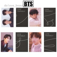 1 piece BTS LOVE YOURSELF Lomo Photo Cards Album Rounded Autograph Photocard