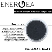 Energea WiDisc Compact No Contact Wireless Battery Charging Pad [Black] 1Y Local Warranty