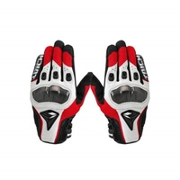RS Taichi Leather Motorcycle Gloves Red/White