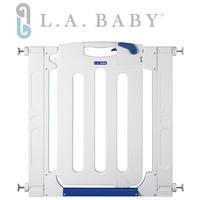 【 L.A. Baby】幼兒安全自動上鎖圍欄/門欄/圍欄/柵欄(贈兩片延伸件)
