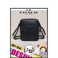 LADY專業代購 蔻馳 COACH 黑色背帶配色斜背包 71723 休閒 COACH包包 斜背包 側背包