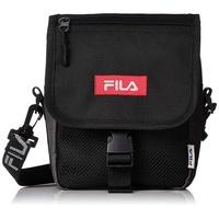 FILA 日本限定 FM2140 Logo Tape Flap Mini Shoulder Bag 帆布 側背包 (黑)