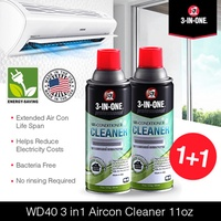 [1+1 Bundle] WD40 3in1 Aircon Cleaner 11oz / 331ml DIY Aircon Servicing Made in USA