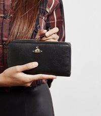 【現貨】VIVIENNE WESTWOOD Balmoral leather wallet 拉鍊皮革長夾 黑色