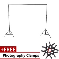 Aluminum Alloy Photography Photo Background Backdrop Support Stand Kit - intl