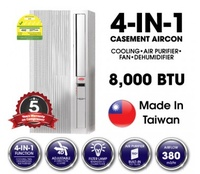 EUROPACE EAC 397 (8000BTU) 4-IN-1 CASEMENT AIRCONDITIONER