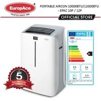 EuropAce Portable AirCon (10KBTU / 12KBTU) (EPAC 12T2/12T6/14T6/10P/12P) - 5 YEARS WARRANTY*