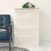 日系木天板四層整理箱抽屜櫃/衣物收納櫃(加寬版)