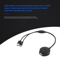 USB/3.5mm-AUX Audio Bluetooth Music Adapter 4.0 Cable for BMW Mini Cooper