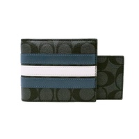 Coach F26072 3-in-1 Men's Wallet in Signature Canvas with Varsity Stripe