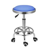 เก้าอี้เสริมสวยเก้าอี้นั่งร้านตัดผมตัดผม Beauty หมุน Hydraulic Lift PU อุปกรณ์ BLUE