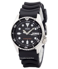 Seiko Automatic Divers 200M Men's Black Rubber Strap Watch SKX013K1