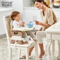 Gromast便攜式寶寶餐椅兒童餐桌椅子多功能嬰兒吃飯可折疊座椅