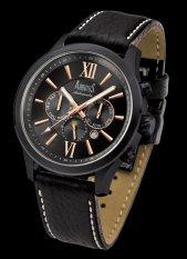 Arbutus Men's Leather Strap Watch AR902TBBB