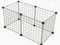 กรง DIY (ตะแกรงสีดำ 6ชิ้น + ตัวล็อค 12 ชิ้น) กรงกระต่าย กรงชินชิล่า กรงแกสบี้ กรงแมว กรงหมา