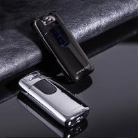【PRIMO】懸空式感應 雙電弧 電磁脈衝 USB充電 防風 打火機 電子點煙器(懸空感應雙電弧 附USB充電線)