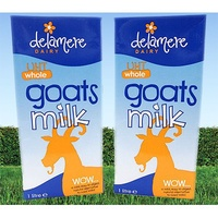 6 x 1L Delamere UHT Whole Goats Milk (15 AUG Batch ONLY)