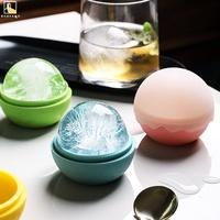 【現貨】半房 製冰盒 雪頂創意球形冰格水信玄餅冰膜威士卡冰塊盒制冰模具矽膠冰球