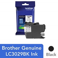 Brother Brother Genuine Super High Yield Black Ink Cartridge, LC3029BK, Replacement Black Ink, Page