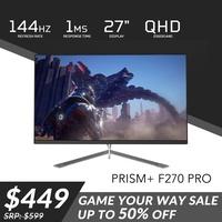 "PRISM+ F270 PRO 27"" 144Hz 1MS QHD [2560 x 1440] Gaming Monitor"