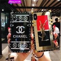 ☘VIVO V11 V11i V9 Y81 Y71 V7 Luxury Fashion Wrist hand Mirror phone Case