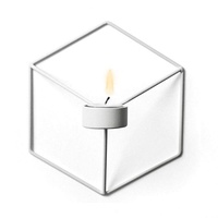 SG 3D Geometric Candlestick Metal Wall Candle Holder Sconce Home Decor