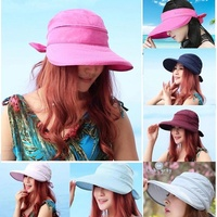 100% cut summer hat UV hat UV-cut hat ladies large size wide brimmed vacationers spring hat caps