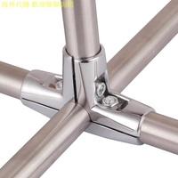 管架固定夾十字扣交叉不銹鋼管涼衣架配件連接件對接緊固鐵管卡扣